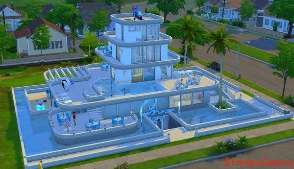Дизайн гостиницы Атлантис для Симс 4.