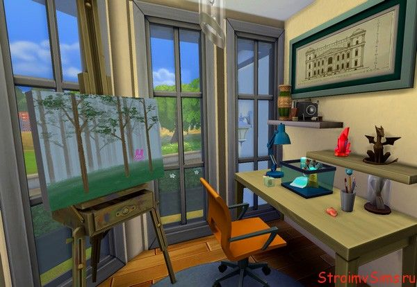 Оформление кабинета в The Sims 4