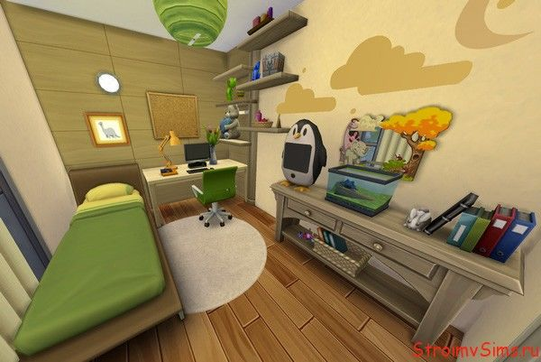 Дизайн спальни ребёнка сима