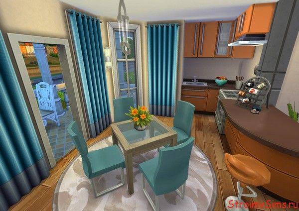 Кухня-студия с выходом на террасу