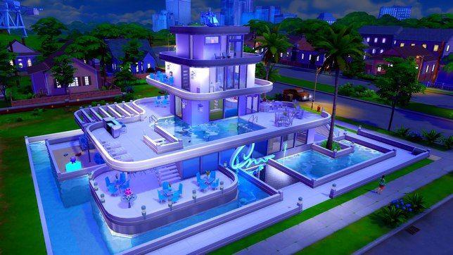 Для Симс 4 строим отель с подземным ночным клубом