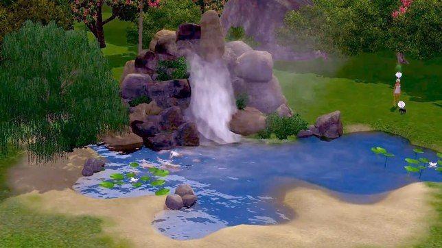 Строительство водопада в The Sims 3