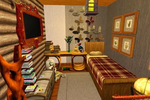 Симс 3 Комната девочки-подростка в деревянном доме