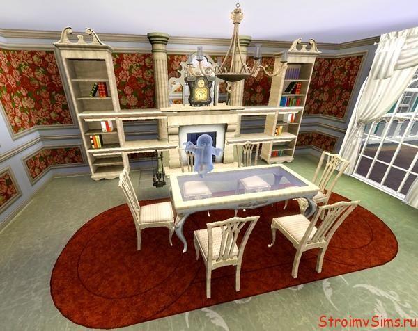 Классический дизайн гостиной в симс 3