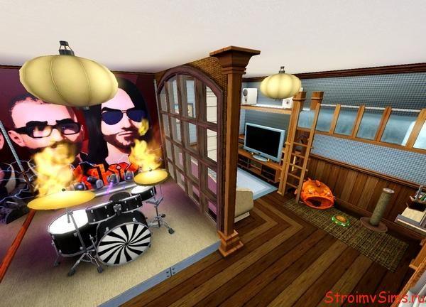 Дизайн комнаты музыканта в The Sims 3