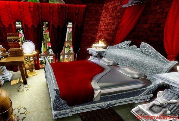 Спальня для ведьм или вампиров в Симс 3