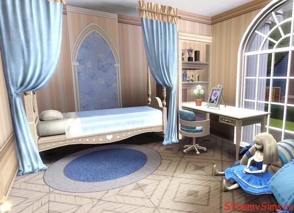 Дизайн комнаты девочки в The Sims 3