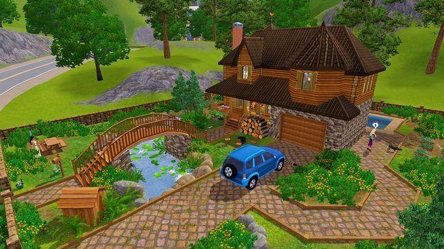 Как построить в Симс 3 деревянный дом