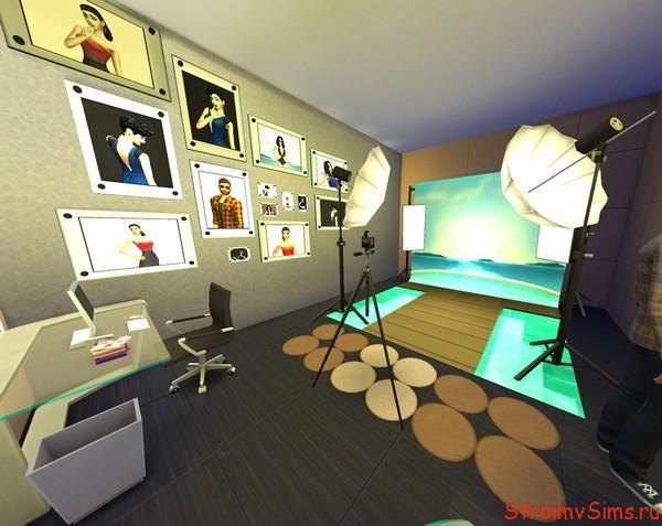 Симс 4 дизайн фото студии «Ньюкрест-холла»