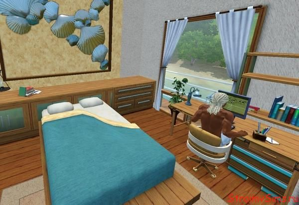 Дизайн спальни для парня и девушки в Симс 3