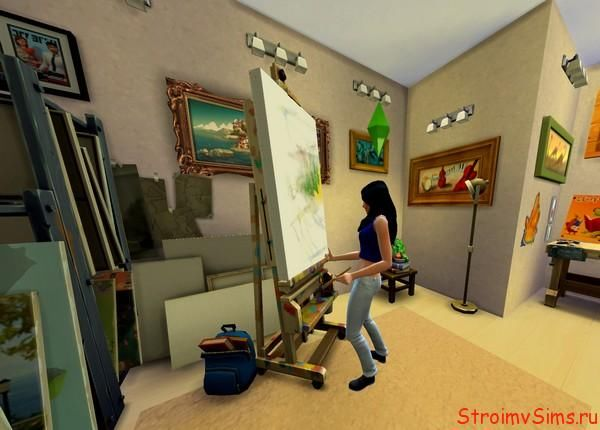 Арт студия для The Sims 4