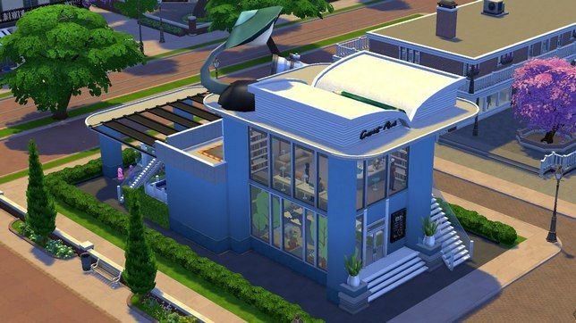 Строим в The Sims 4 общественный участок