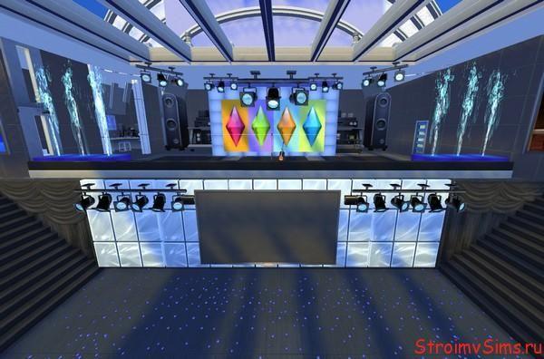Симс 4 сцена концертной площадки