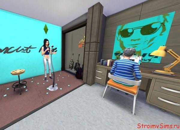 Как в Симс 4 сделать комнату для занятий музыкой