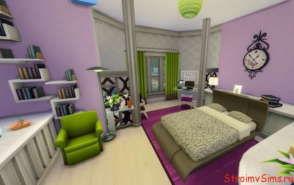 Семейная спальня для пары симов