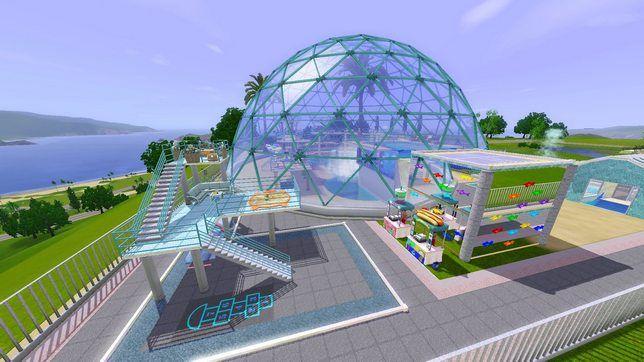 Как в The Sims 3 строить парк водных аттракционов