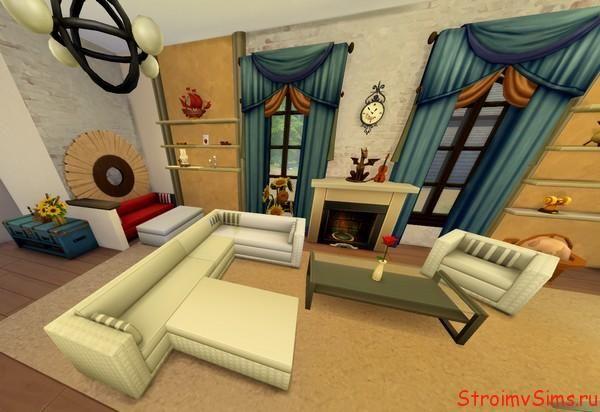The Sims 4 гостиная