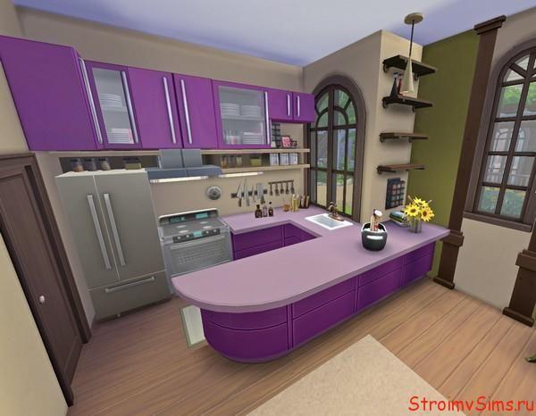 Кухонный уголок в комнате-студии