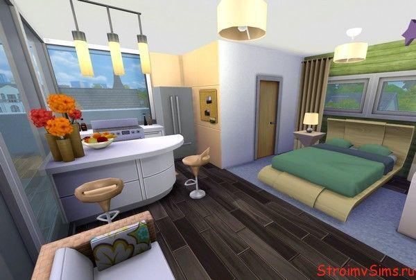 Спальня в Симс 4 для девушки