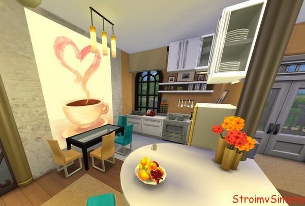 Дизайн кухни в Симс 4