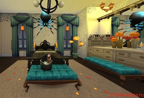 Использование декора из каталога «The Sims 4 Жуткие вещи»