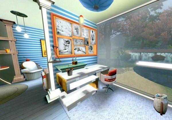 Комната в морском стиле для двойняшек