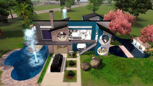 The Sims 3 дом для фото сессий