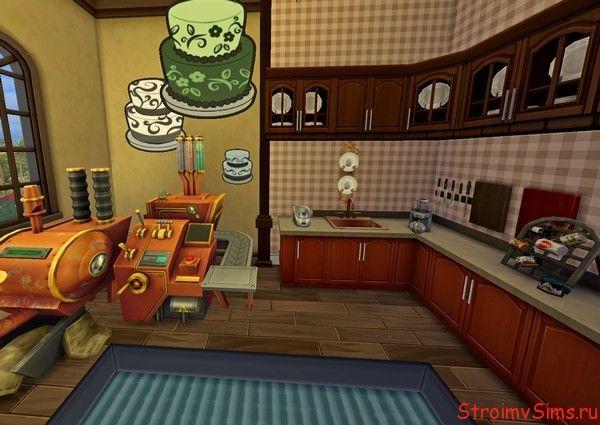 Мини-пекарня в The Sims 4.