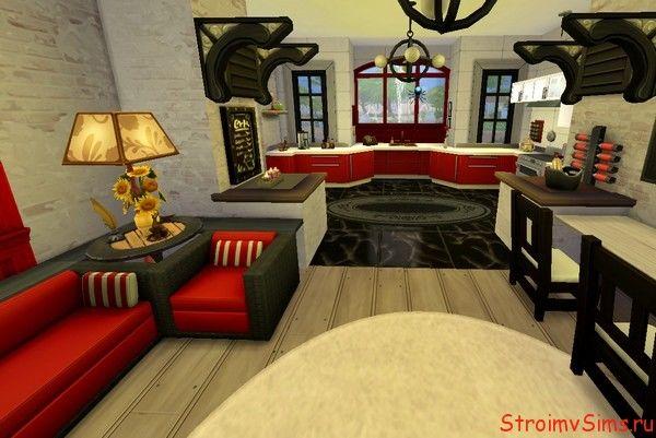 Зал дома для Симс 4