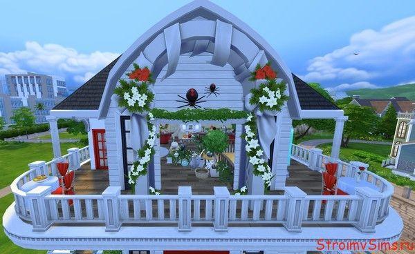Увеличенная арка в украшении фасада дома