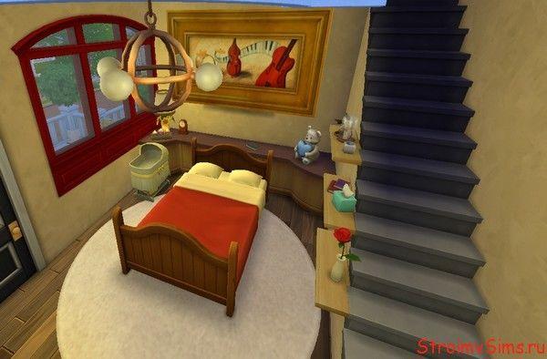 Спальня со вторым этажом