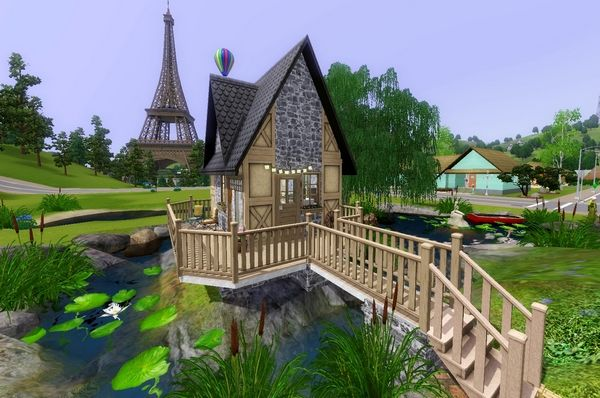 The Sims 3 домик рыбака.