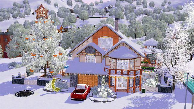 The Sims 3 строительство дома на скачку