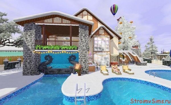 Фигурный бассейн в The Sims 3