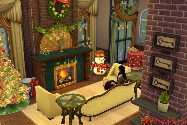 Камин на Новый год в The Sims 4