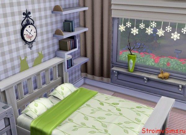 Украшение окон спальни симов родителей