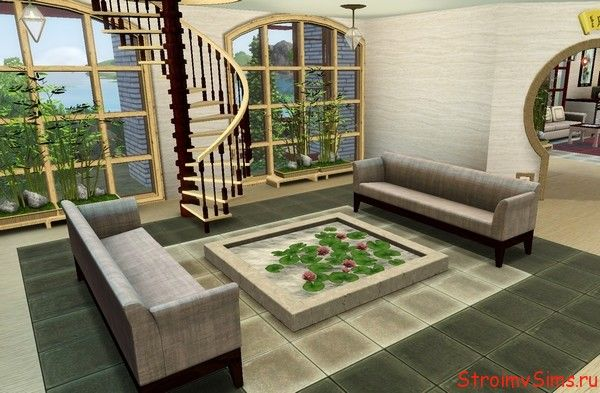 Скачать большой домик в современном стиле для The Sims 3