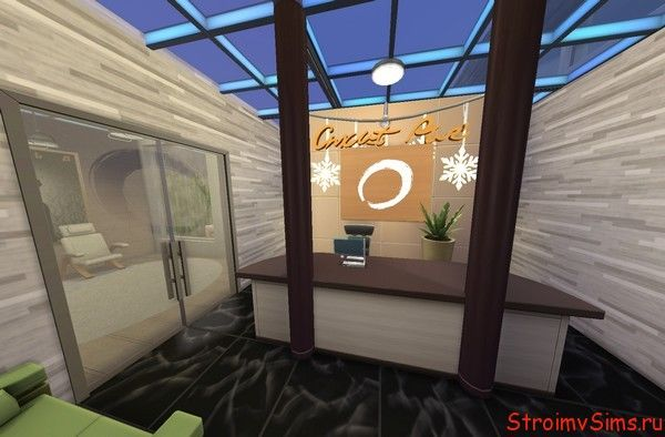 Как сделать в Симс 4 прозрачный потолок
