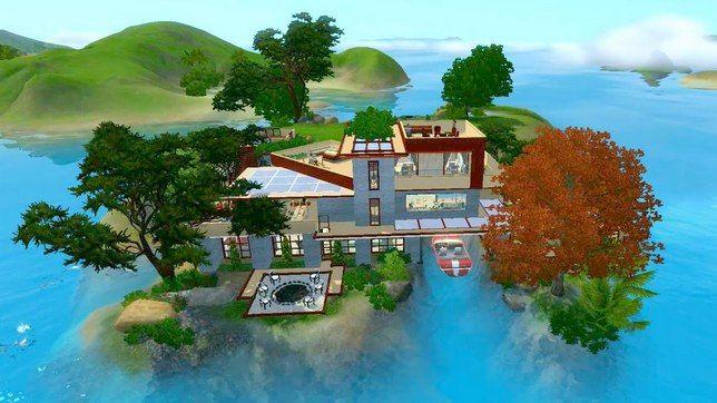 Большой дом на 8 симов