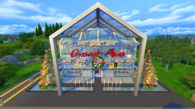 Супермаркет с дискотекой баром и спа в Симс 4