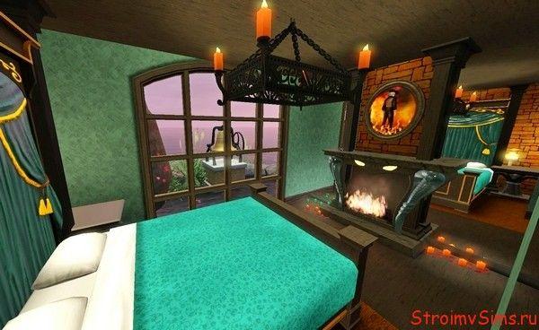 Спальня молодой колдуньи для Симс 3