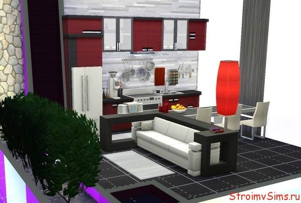 Кухня модерн в The Sims 4