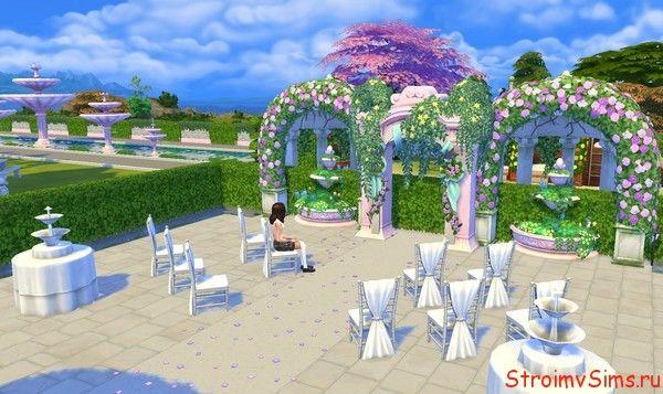 Украшение для свадьбы в Симс 4