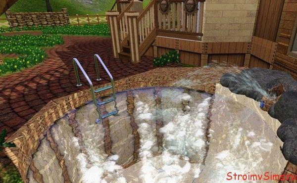 Круглый бассейн с пузырьками