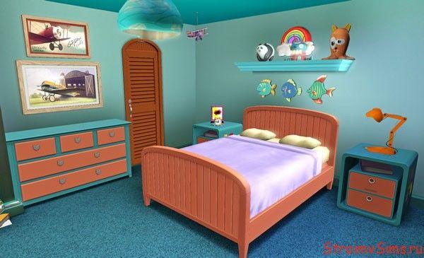 Детская мальчика в доме Симпсонов