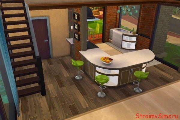 Как построить красивую кухню для Симс 4