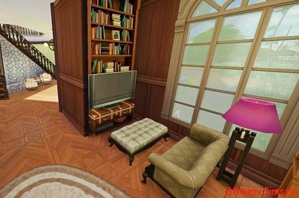 Красивая гостиная для Симс 4