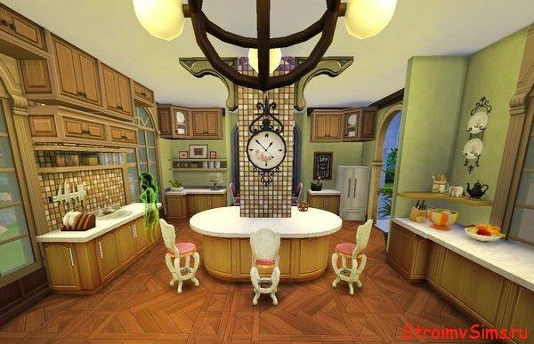 Просторная кухня Симс 4