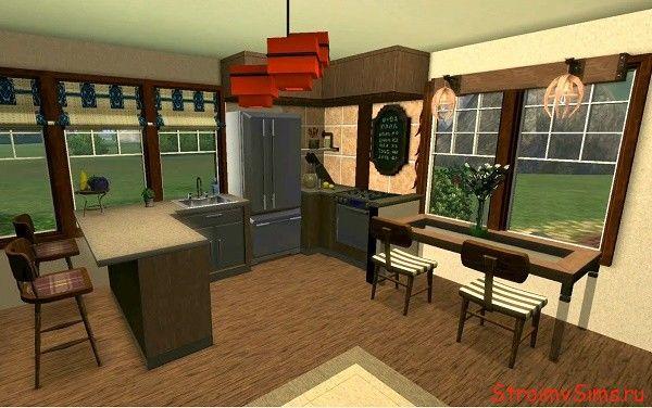 Как сделать кухню для двоих симов