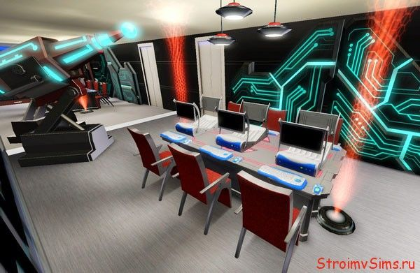 Комната соревнований Симов геймеров
